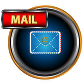 Blue mail icon — Stock Vector