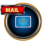 Mavi posta simgesini — Stok Vektör