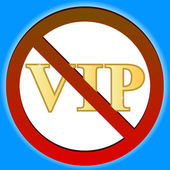 No vip — Stock Vector