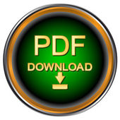 Pdf download icoon — Stockvector