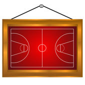 Basketball platform in a frame — Stock Vector