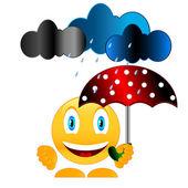 Sonríe con paraguas — Vector de stock