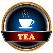 Tea icon — Stockvektor