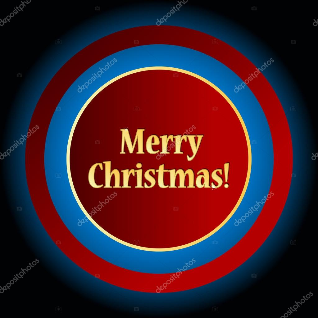 Unique icon of Merry Christmas on a black background — Stock Vector #16861141