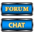 Forum and chat icons — Vettoriali Stock