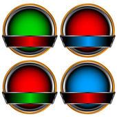Circle form set — Stock Vector