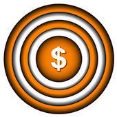 Dolar ikona — Wektor stockowy
