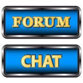 Forum i czat ikony — Wektor stockowy
