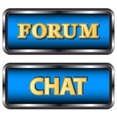 Forum ve sohbet simgeler — Stok Vektör