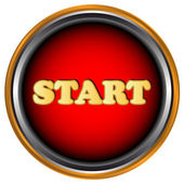 Start, knop — Stockvector