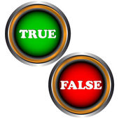 Buttons true and false — Stock Vector