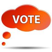Icona di votazione — Vettoriale Stock
