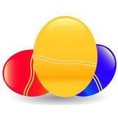 Tre ägg — Stockvektor
