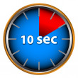 Stock Vector: Ten seconds