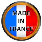 Made in france icon — Stock Vector