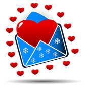 Heart in an envelope — Stock Vector
