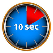 Ten seconds — Stock Vector