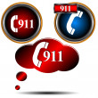 Stock Vector: 911 emergency set