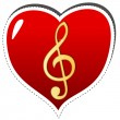 Royalty-Free Stock Vector Image: Love music symbol