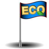 Eco flag — Stock Vector