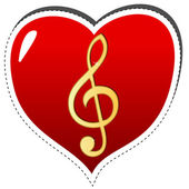 Love music symbol — Stock Vector