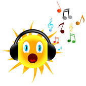 Music sun — Stock Vector