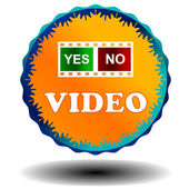 Video logo — Stock Vector