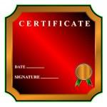 Best certificate — Stock Vector