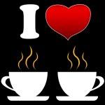 I love coffee — Stock Vector
