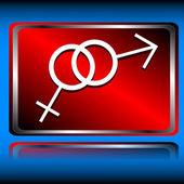 Icono de mujer y hombre — Vector de stock