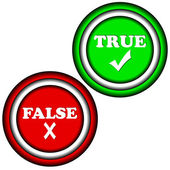 Buttons true and false — Stockvector