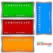 Stock Vector: Certificates set