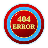 404 error symbol — Stock Vector