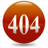 404 hata simgesi — Stok Vektör