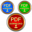 PDF download set - Stock Vector