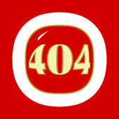 Red 404 error — Stock Vector