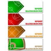 Sport backgrounds — Stock Vector