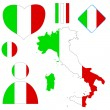 Italian set - Stock Vector
