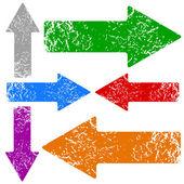 Grunge arrows set — Stock Vector