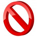 ������, ������: 3d forbidden sign
