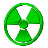 Radioactive 3d icon — Stock Vector