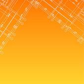 Architectural orange background — Stock Vector