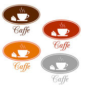 Caffee set design — Stock Vector