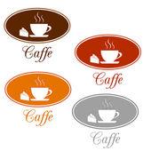 Caffee set design — Stock Vector
