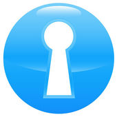 Keyhole blue icon — Stock Vector