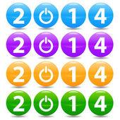 New 2014 set — Stock Vector