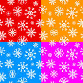 White snowflakes set on different backgrounds — Stock Vector