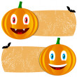 Orange halloween tags — Stock Vector