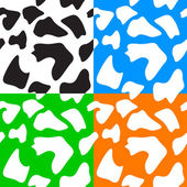 Seamless animal patterns skin fur — Stockvector