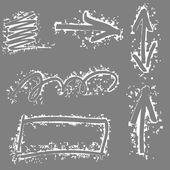 Pijlen en lijnen — Stockvector